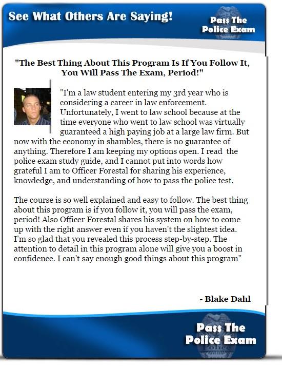 Sample Police Exams - Police Practice Test Exam Written ...