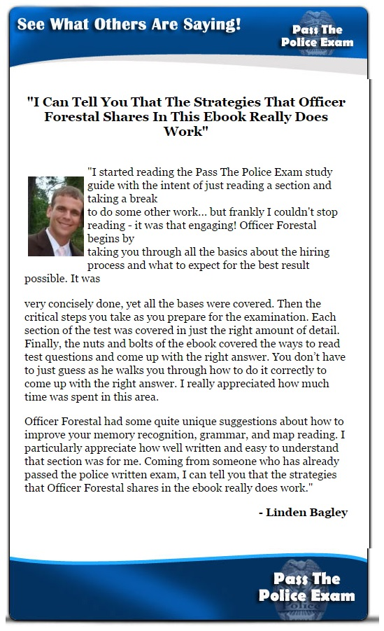 2019 Police Exam Study Program - PoliceQuiz.com